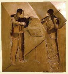 "Violin Players | 18"" x 16"" 