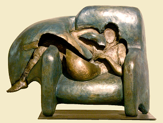 "Woman in Chair | 16"" x 20"" x 7.5"" 