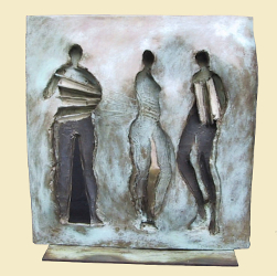 "Figures and Stripes | 15"" x 14"" 