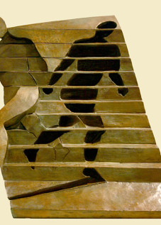 "Double Shadow I Ernesto Montenegro 12.5 "" x 25"" x 7.5"" Bronze"