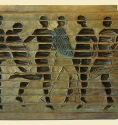 """Six Dancers Ernesto Montenegro 12"""" x 18"""" x 5.5"""" Bronze"""